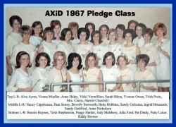 1967 Pledge class with names